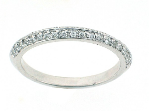 0.31ct Pave Set Diamond Band