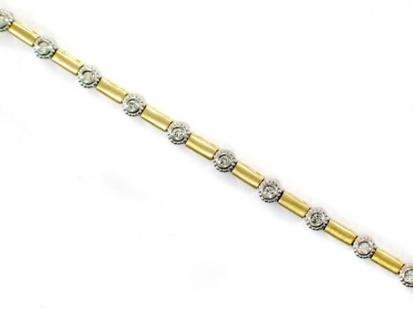14K Two-Tone Diamond Bracelet