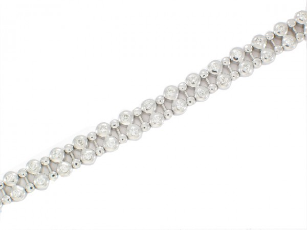 14K Dew-Drop Diamond Tennis Bracelet