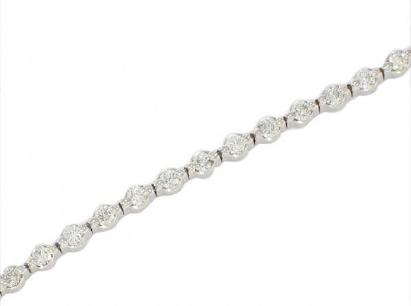 14K Shared Prong Diamond Tennis Bracelet