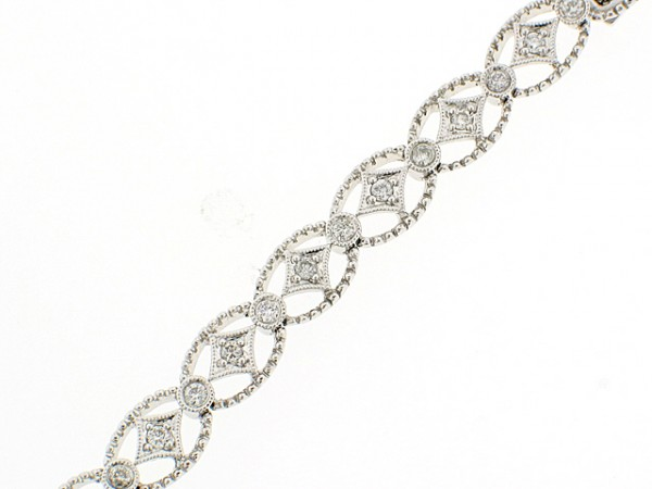 14K Diamond Circle and Sparkle Bracelet