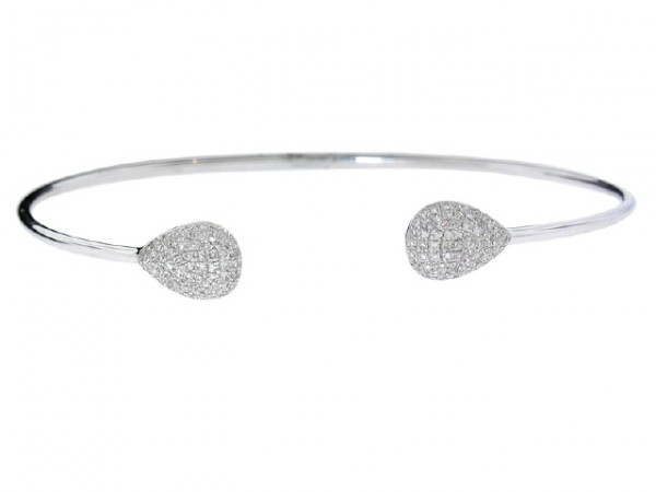 14K Diamond Drops Bangle Bracelet