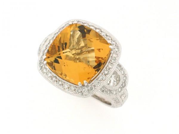 12.50ct Beryl and Diamond Ring