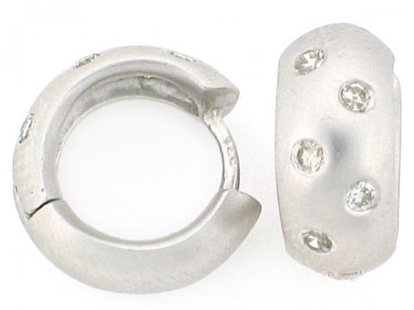 14K White Gold Mini-Hoops