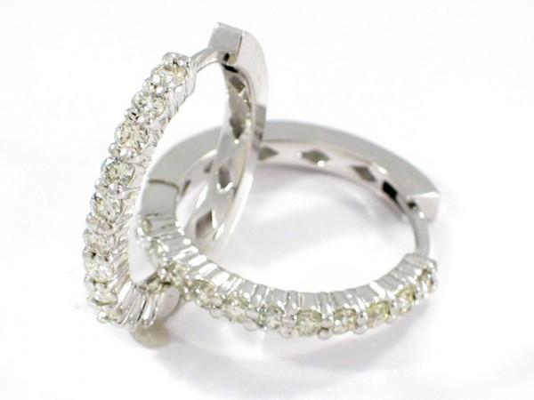 14K 22 Diamond Diamond Hoop Earrings