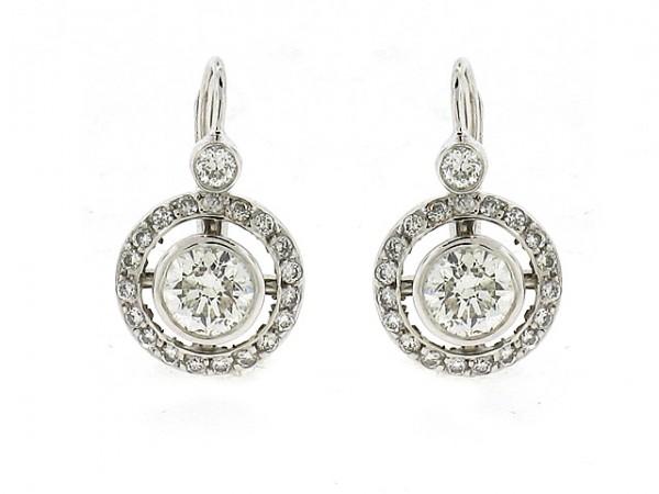 14K Round Diamond Earrings