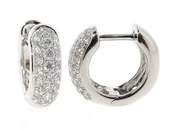 0.68ct Diamond Pave Huggy Hoop Earrings