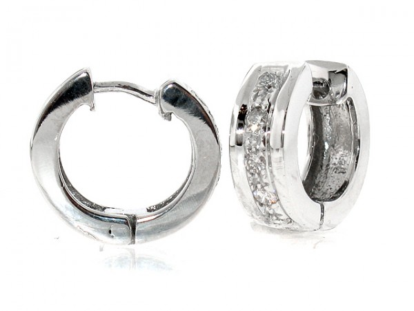 1/4ct Diamond Huggie Earrings