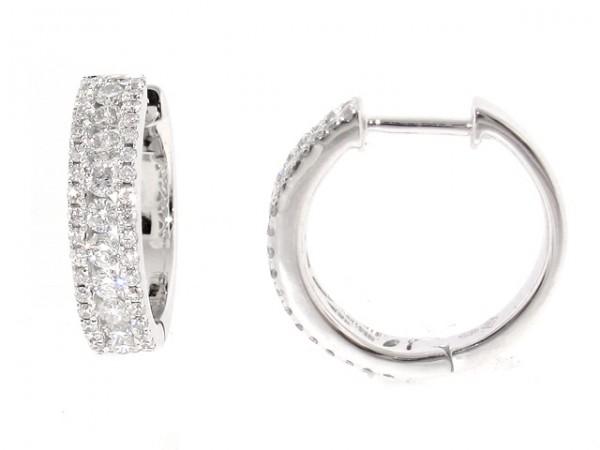 0.63ct Diamond Huggy Style Earrings