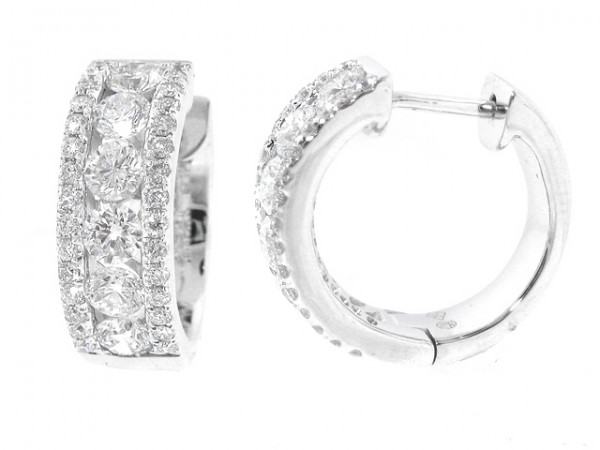 1.40ct Diamond Huggy Style Earrings