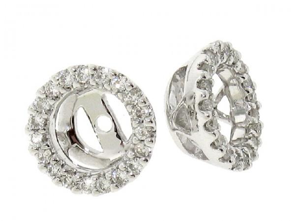 18K Diamond Stud Earring Jackets