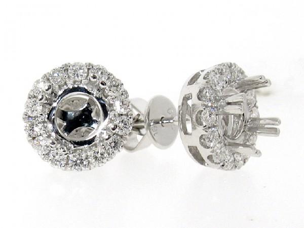 18K White Gold Diamond Stud Jackets