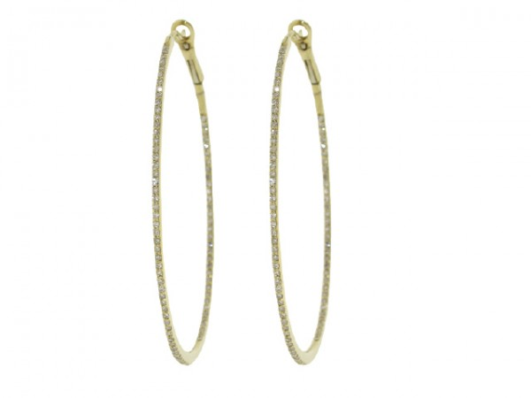 0.50ct Diamond Hoop Earrings
