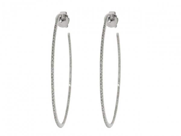 0.52ct Diamond Hoop Earrings