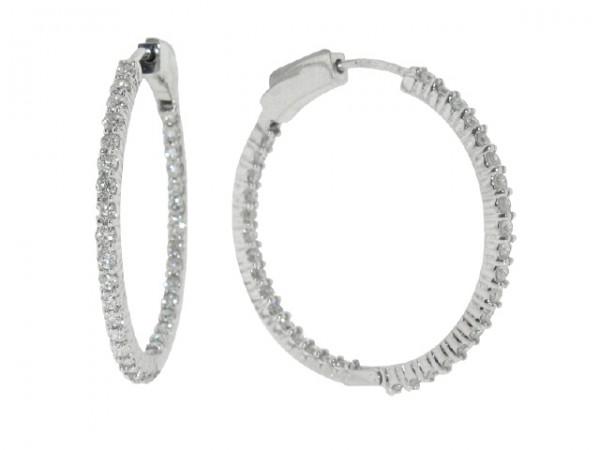 1.36ct Diamond Hoop Earrings