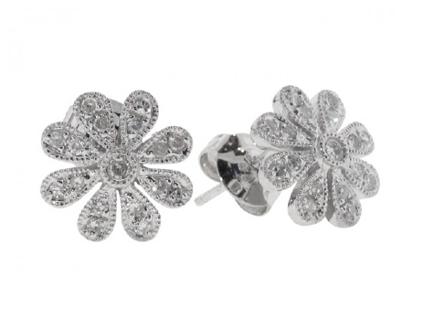 .19ct Diamond Flower Stud Earrings