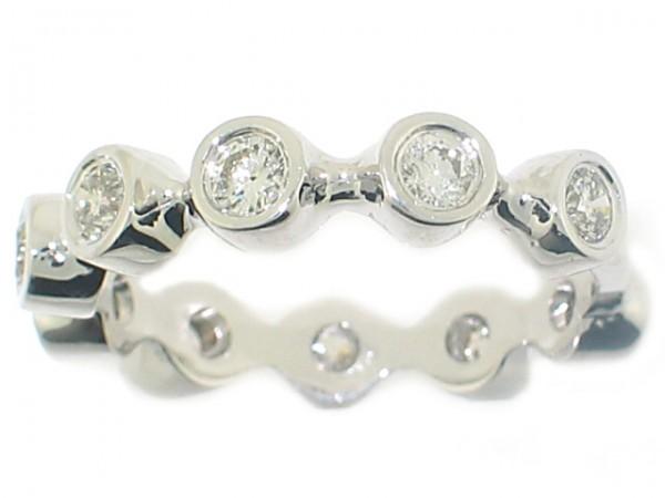 0.74CT Diamond Bezel Set Eternity Ring