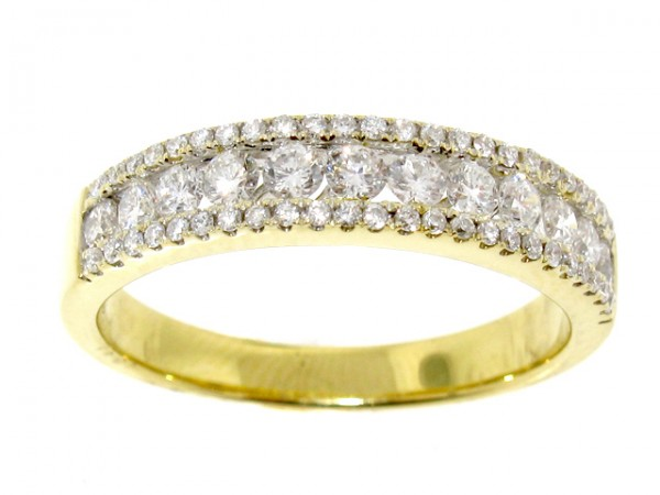 0.54ct Yellow Gold Diamond Anniversary Band