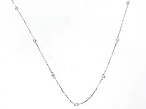 14K Diamond Chain Necklace, 0.80ct