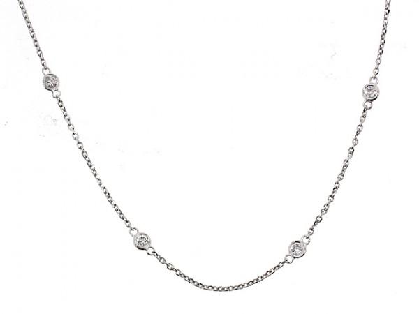 14K Diamond Chain Necklace, 0.90ct