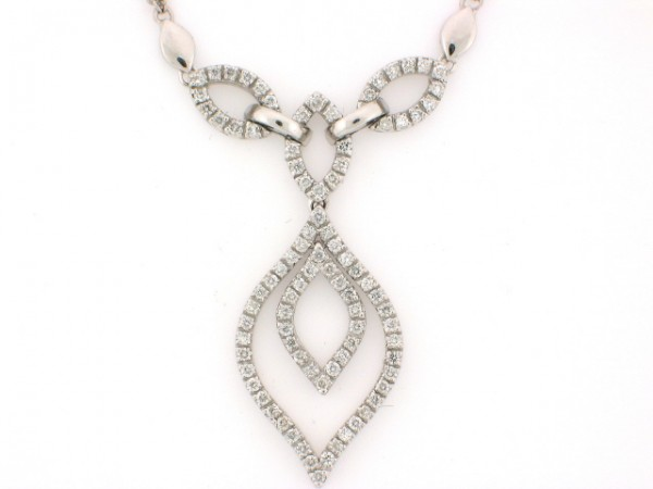 14KT WHITE GOLD DIAMOND PEND