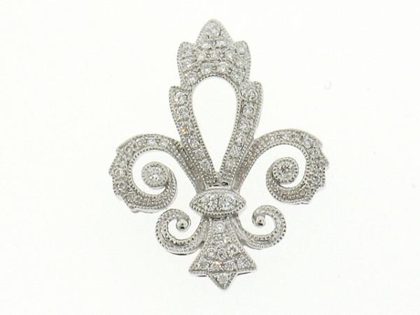 0.43ct Fleur De Lis Diamond Pendant