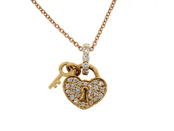 18k diamond heart lock pendant 021ct heart pendants pendants 18k diamond heart lock pendant 021ct aloadofball Images