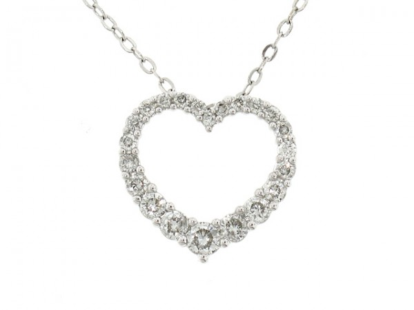 1/2ct Diamond Heart Pendant