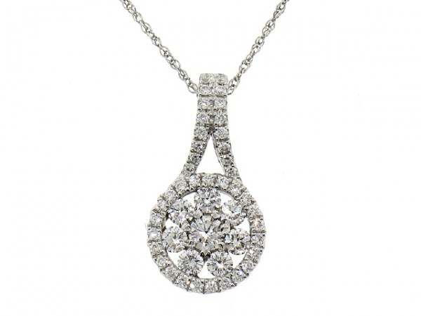 0.57ct Diamond Cluster Pendant
