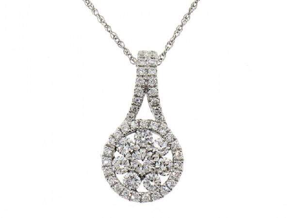 0.57ct Diamond Cluster Pendant
