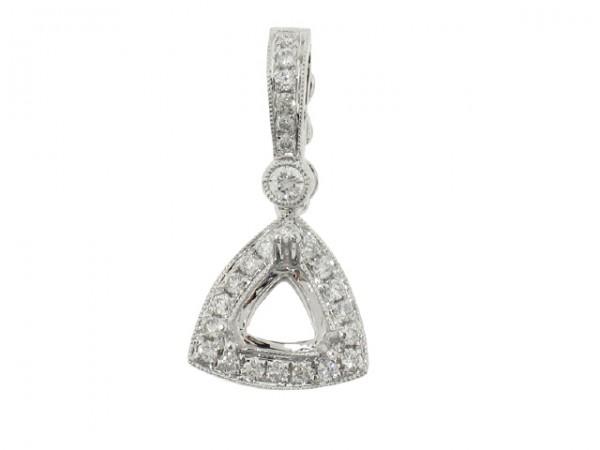 0.27ct Trillion Diamond Semi-Mount Pendant