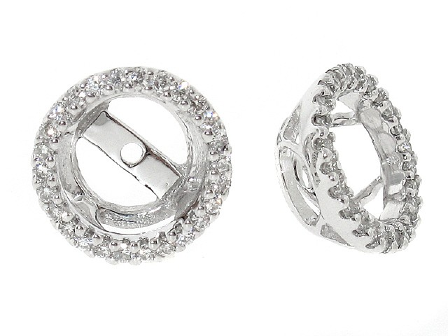 18k Round Diamond Stud Jackets