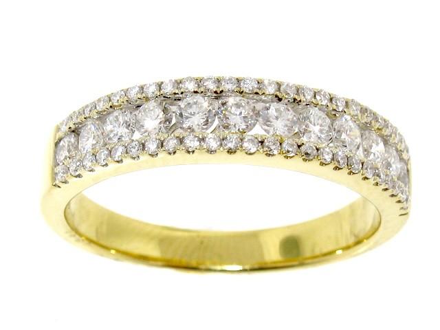 0.54ct Yellow Gold Diamond Anniversary Band - Diamond Bands ... 66c401a768