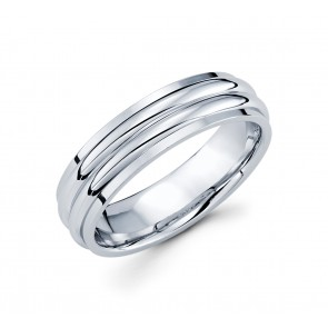 14K 2 Row Polished Band