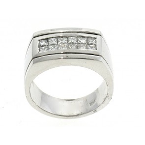 14K Princess Diamond Men's Ring