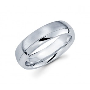 14K Brushed and Polished Split Band