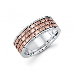 14K Brickwork Design Band