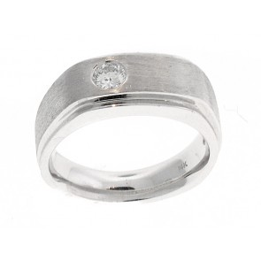 14K Mens Diamond Solitaire Ring