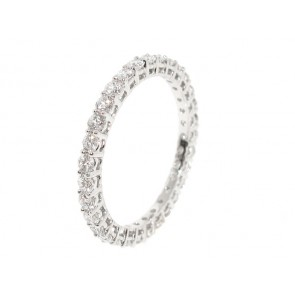 14K White Gold Eternity Band0.92ct