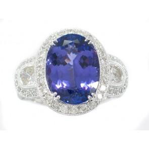 18K Tanzanite and Diamond Ring