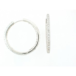 14kw Hoop diam earrings 2ct