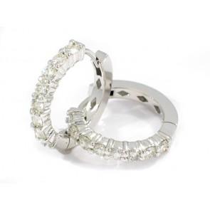 14K Hoop Earrings with 1.24ct in Diamonds