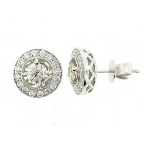 18K Fancy Diamond Stud Earrings
