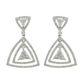 18K Diamond Trinity Earrings