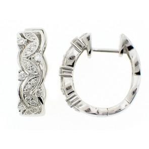 18K Fancy Diamond Hoop Earrings
