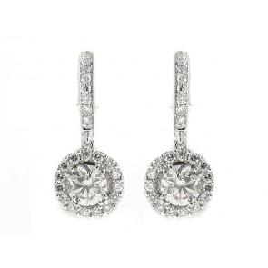18K Diamond Earrings, 2.19ct