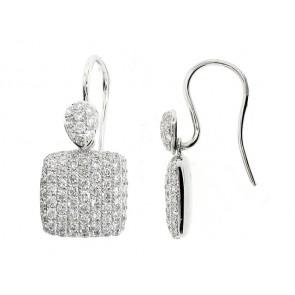 18K Diamond Pave Earrings