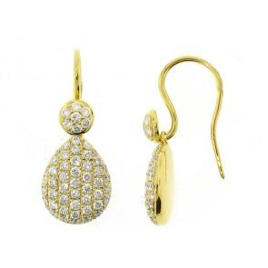 18K Diamond Pave Drop Earrings