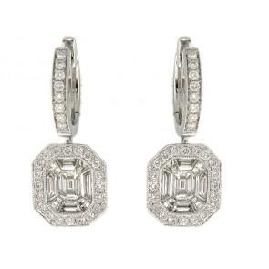 18K Diamond Earrings, 1.47ct