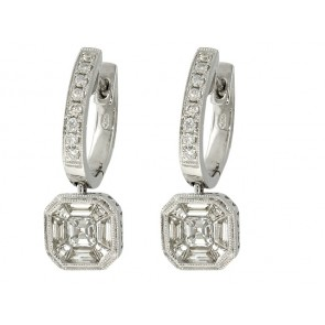 18K Diamond Fashion Earrings, 1.01ct